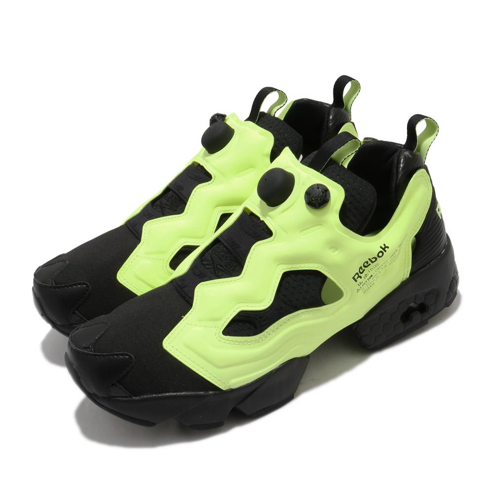 REEBOK 休閒鞋 Instapump Fury 運動 男女鞋 經典款 充氣科技 舒適 襪套 情侶穿搭 黑 黃 [FV1578]