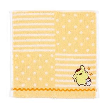 布丁狗 純棉無捻紗小方巾《黃.橫紋》20x20cm.手帕.毛巾