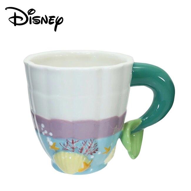 【日本正版】小美人魚 造型馬克杯 270ml 馬克杯 咖啡杯 艾莉兒 Ariel 迪士尼 Disney - 258513