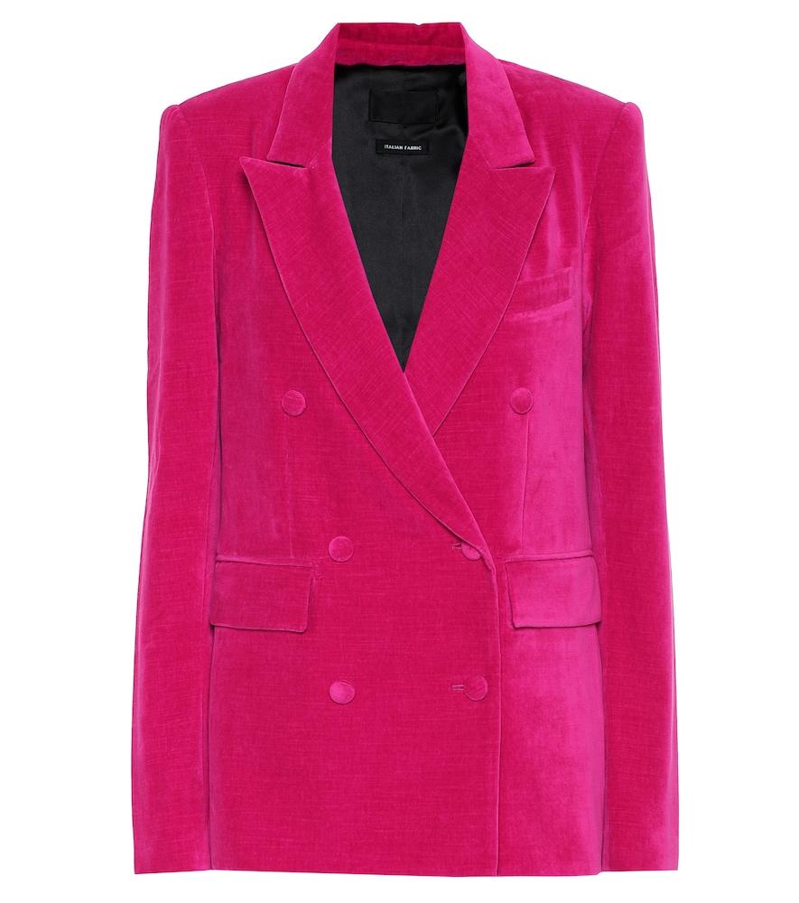 Clark cotton-velvet blazer