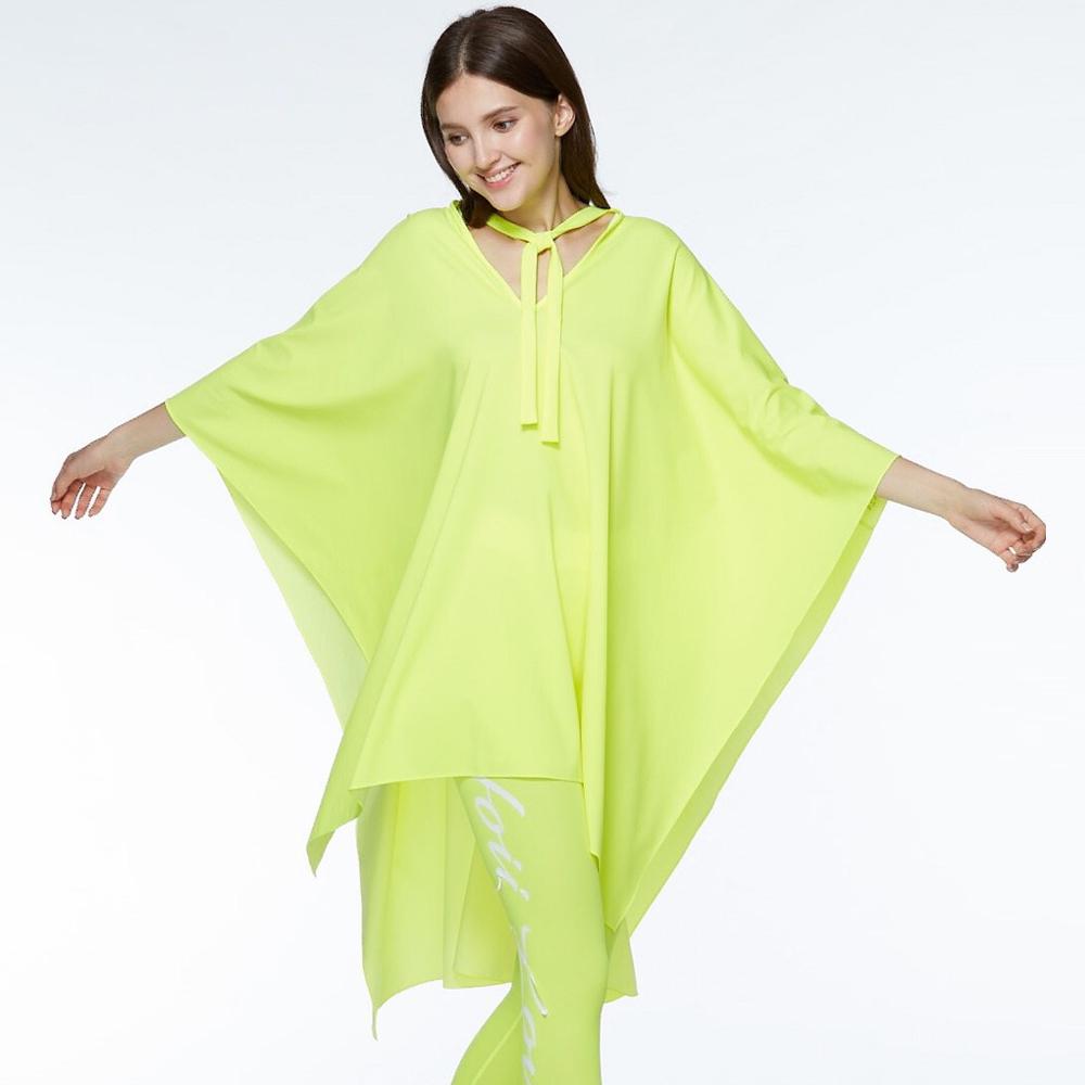 【HOII后益】小V領傘狀飛行上衣(三色:黃/紅/藍)