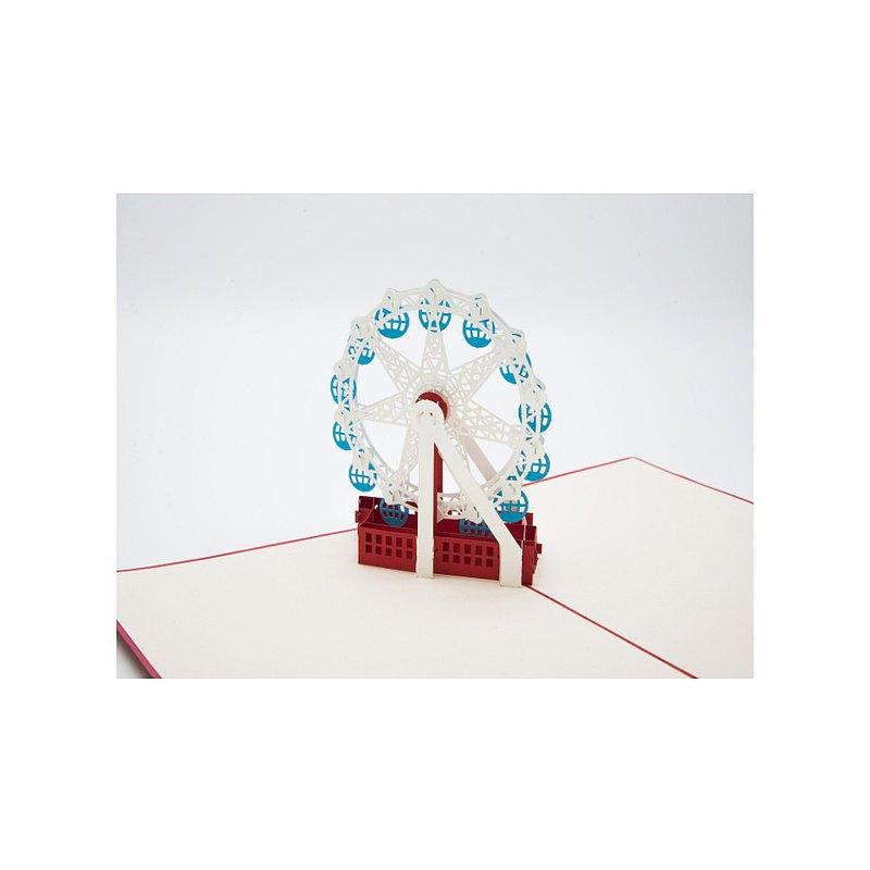 日本 Pop-up 紙雕3D立體卡片 摩天輪