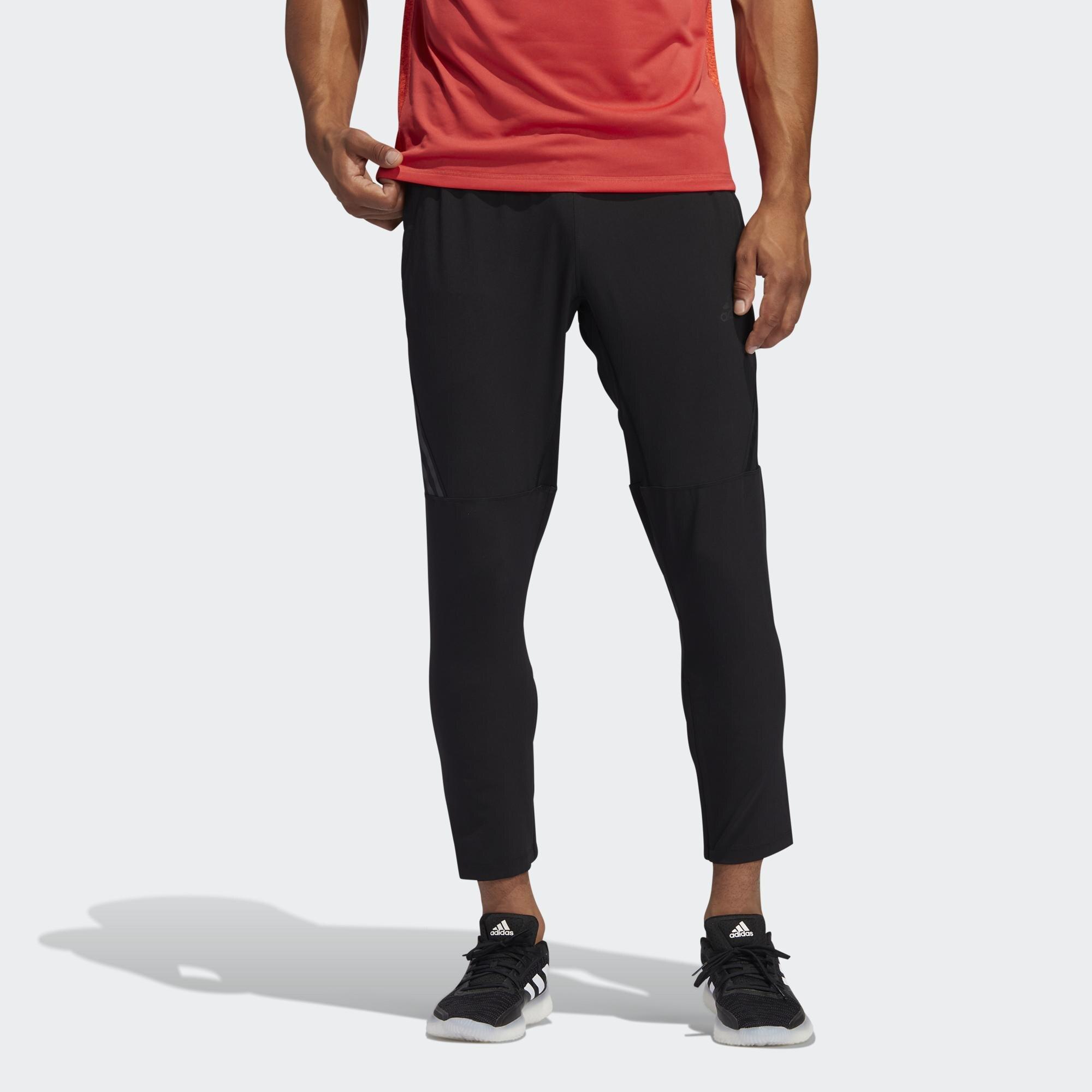 【領券最高折$300】【現貨】Adidas AEROREADY 男裝 長褲 訓練 健身 腳踝拉鍊 鬆緊腰 側邊口袋 黑【運動世界】FJ6134