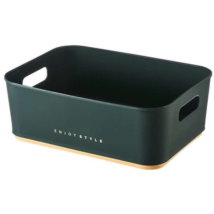 收納框SK218 化妝品桌面收納塑料儲物收納筐化妝刷方形小盒子文具置物架KIMM