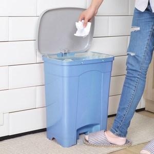 【nicegoods】KEYWAY吉利潔腳踏式垃圾桶25L藍色