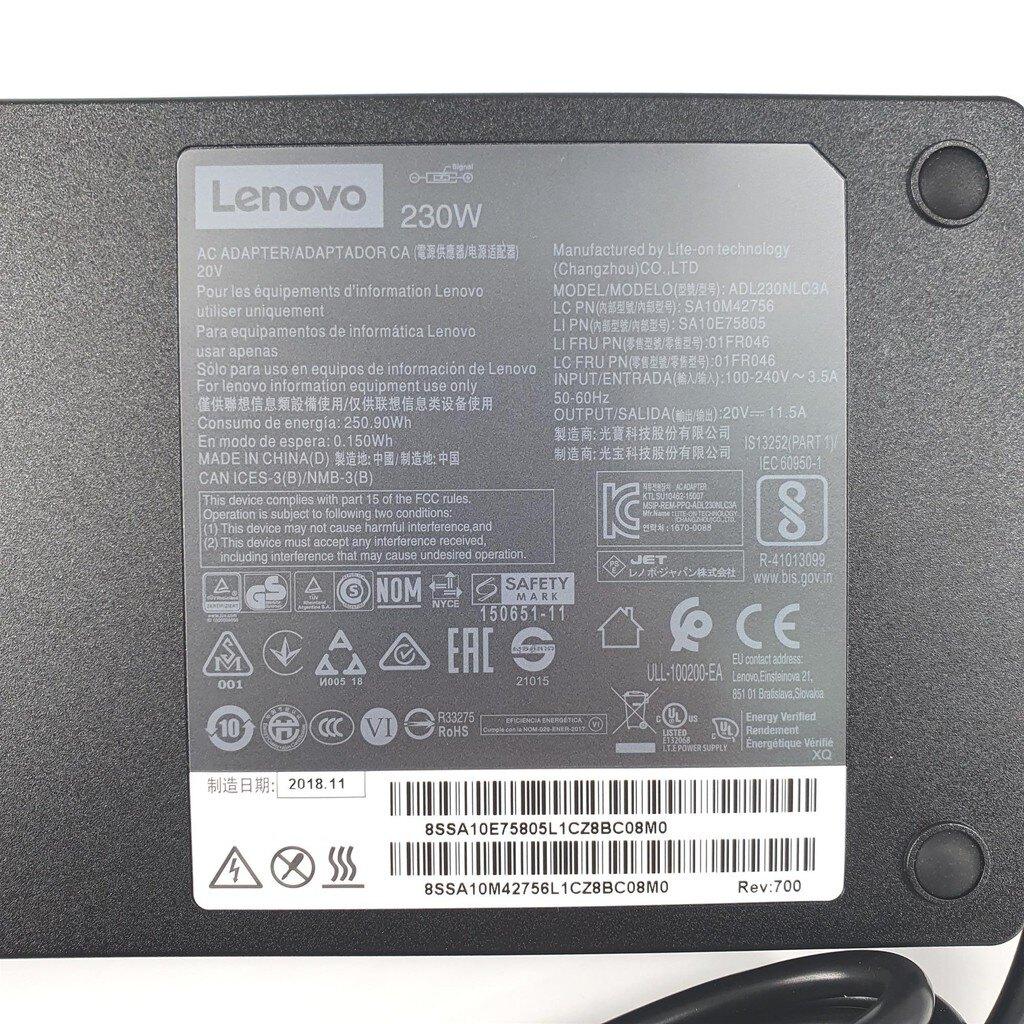 新款超薄 LENOVO 230W 原廠變壓器 黃口帶針 充電器 20V 11.5A 電源線 充電線 Y7000 Y7000P Y7000SE Y900 Y910 Y920 P51S R7000 P70