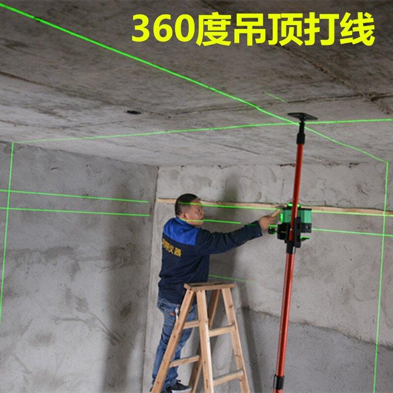 12線綠光水平儀高精度強光細線綠外線鋪地板磚貼地儀16線平水儀器小山好物