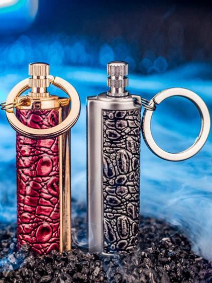 打火機 萬次火柴打火機 煤油戶外便攜防水創意奇特煤油火機鑰匙扣點器