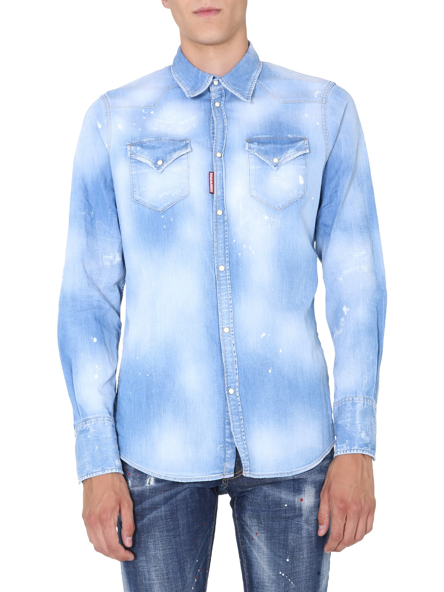 dsquared western shirt