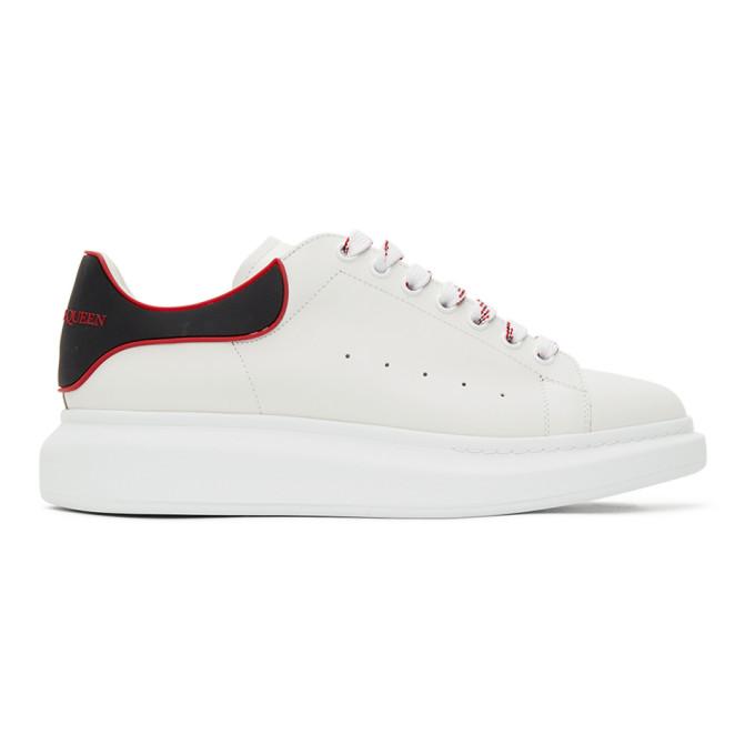 Alexander McQueen 白色 and 红色阔型运动鞋