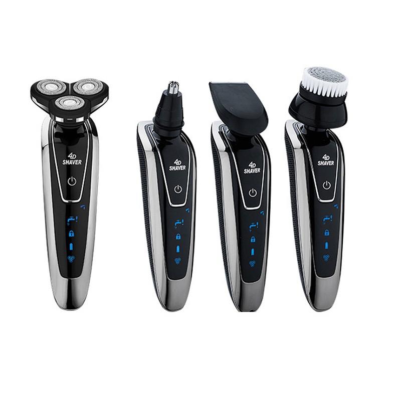 4D剃須刀電動刮胡刀胡須刀修刮胡子刀便攜男士全身水洗智能充電式