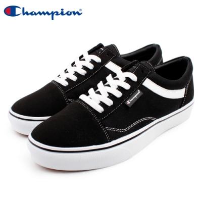 【Champion】U-C Plain 休閒帆布鞋 女鞋-黑(WFLS-9016-10)