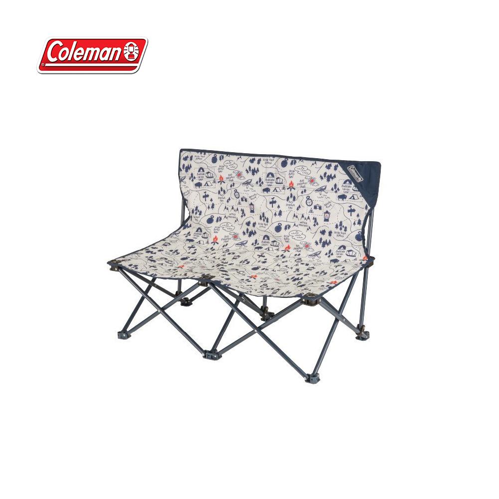Coleman CM-33438 露營地圖情人椅 迷你椅 雙人椅 折疊椅 低椅 露營椅 登山 露營