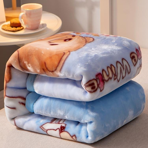 兒童嬰兒毛毯雙層加厚寶寶蓋毯新生兒小毯子秋冬季空調珊瑚絨被子 Cocoa