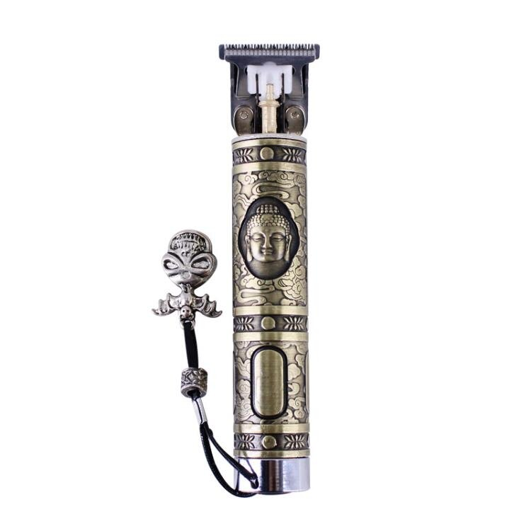 T9小銀管小銅管推光髮廊電池雕刻電推剪修邊理髮器
