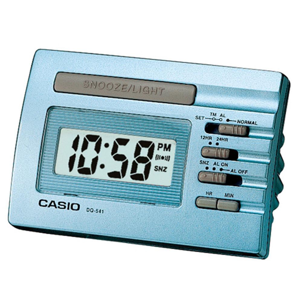 CASIO 數位電子鬧鐘-藍色(DQ-541D-2)