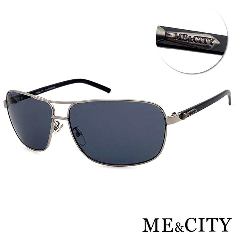 ME&CITY 時尚飛行官金屬方框太陽眼鏡 抗UV400(ME11011 B611)