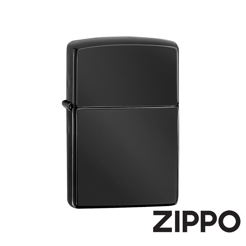 ZIPPO 黑炫冰(素面)防風打火機 經典素面 24756