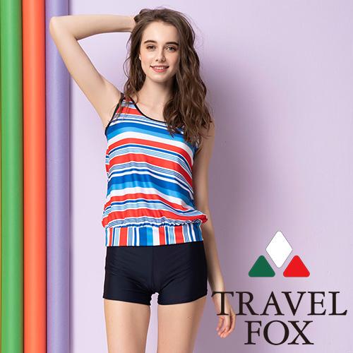 旅狐TRAVEL FOX 大女長版二件式泳衣-C20709