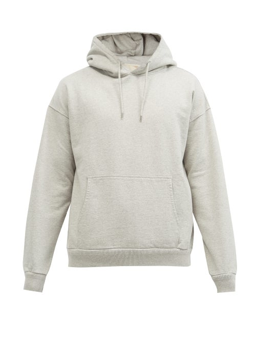 Jeanerica Jeans & Co. - Jules Organic-cotton Jersey Hooded Sweatshirt - Mens - Light Grey