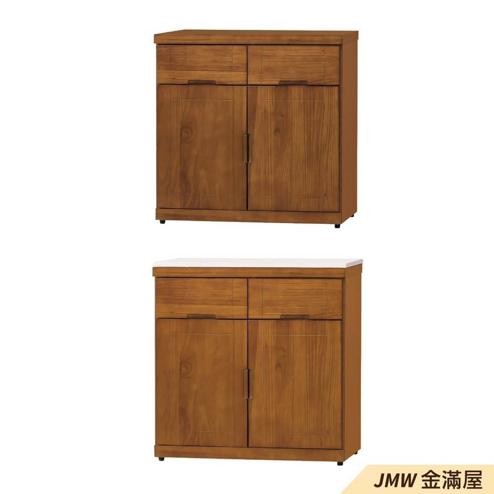 80cm北歐餐櫃收納 實木電器櫃 廚房櫃 餐櫥櫃 碗盤架 中島大理石金滿屋尺餐櫃-j396-05