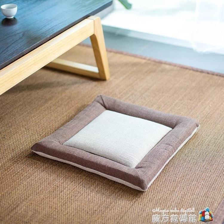 樂樸棉麻蒲團坐墊 加厚方形布藝地板打坐日式陽台飄窗榻榻米坐墊