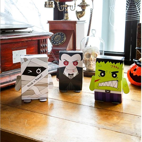 萬聖節 卡通怪物包裝盒 糖果包裝紙盒 西洋鬼節盒 餅乾盒萬聖糖果盒萬聖節包裝【X087】