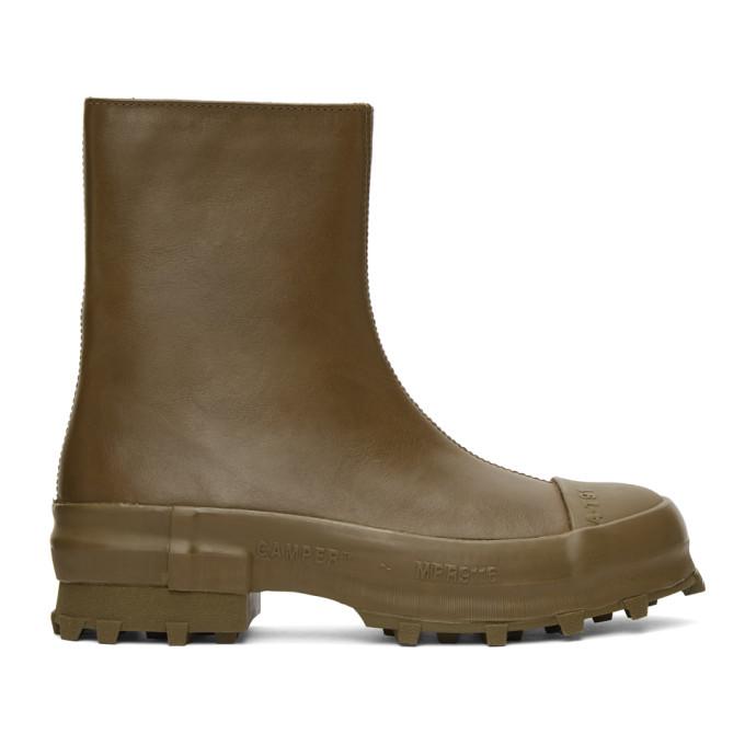 CamperLab 军绿色 Traktori 中筒靴