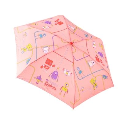 RAINSTORY 機器人(粉)抗UV手開迷你口袋傘