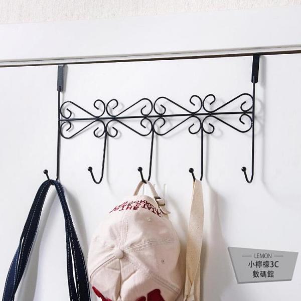 2個裝 廚房掛鉤置物架掛衣鉤浴室免打孔門上掛衣架【小檸檬3C】