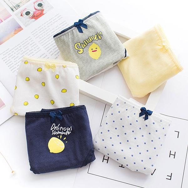 MUMU【B00629-2】檸檬印花纯棉三角內褲。五色