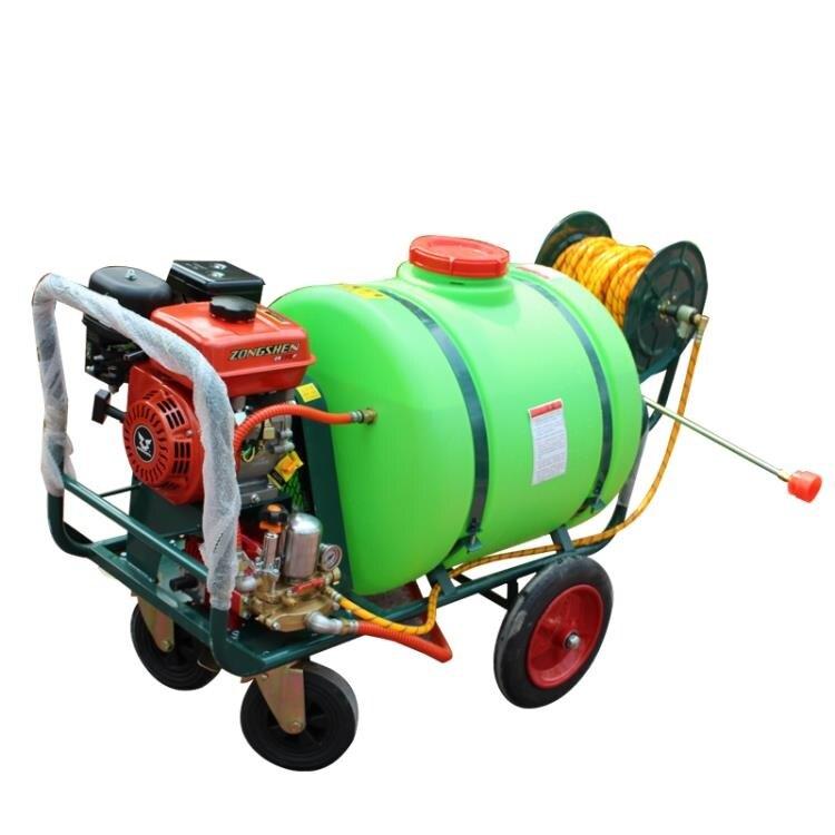 打藥噴霧機 手推式打藥機160升果樹高壓農用汽油動力園林噴霧機器消毒打藥車  創時代 新年春節送禮