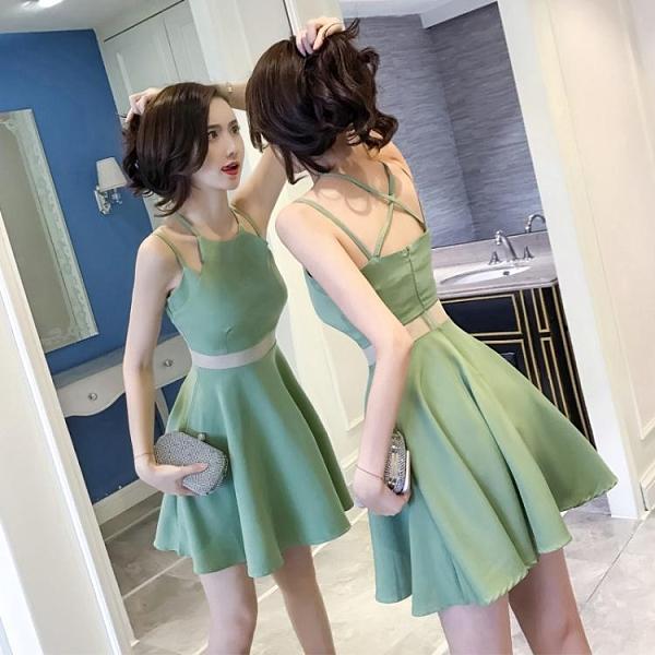 2021新款女裝夏裝顯瘦小個子心機露背流行修身夜店性感吊帶洋裝