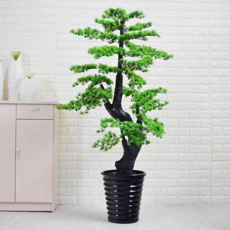 仿真植物迎客鬆樹室內花客廳裝飾假綠植大型落地塑料假樹盆栽擺設