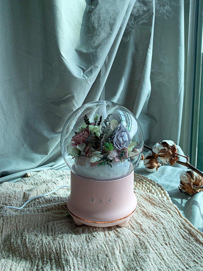 客製單 香氛藍芽音響 香氛機 藍芽音響 不凋花鐘罩 水氧機