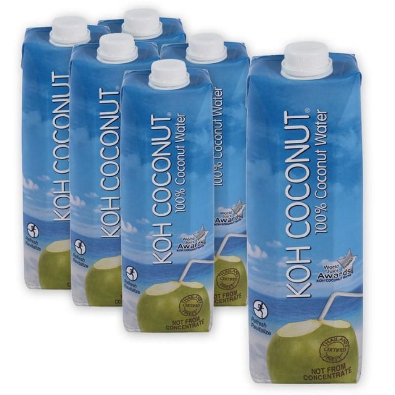 【酷椰嶼】100%純椰子汁1000ml (6入特惠組)再送動物玩偶(數量有限送完為止)