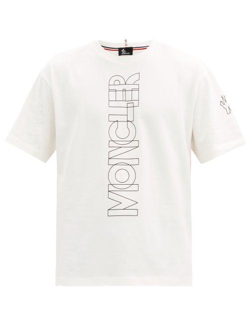 Moncler Grenoble - Logo-print Cotton-jersey T-shirt - Mens - White