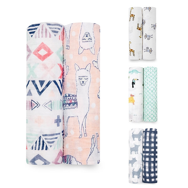 美國 Aden + Anais 純棉包巾2入/禮盒/彌月(6款可選)