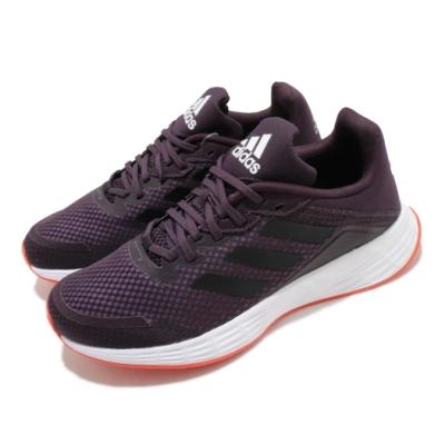 adidas 慢跑鞋 Duramo SL 運動休閒 女鞋 愛迪達 路跑 緩震 透氣 球鞋穿搭 紫 黑 FW7403