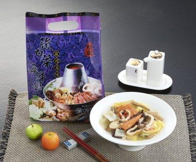 【火鍋料系列】酸白菜海鮮鍋/約1200g~鮮甜海鮮豐富配料加上酸香的酸白菜,又酸又鮮甜的湯頭,在家吃酸白菜鍋好輕鬆