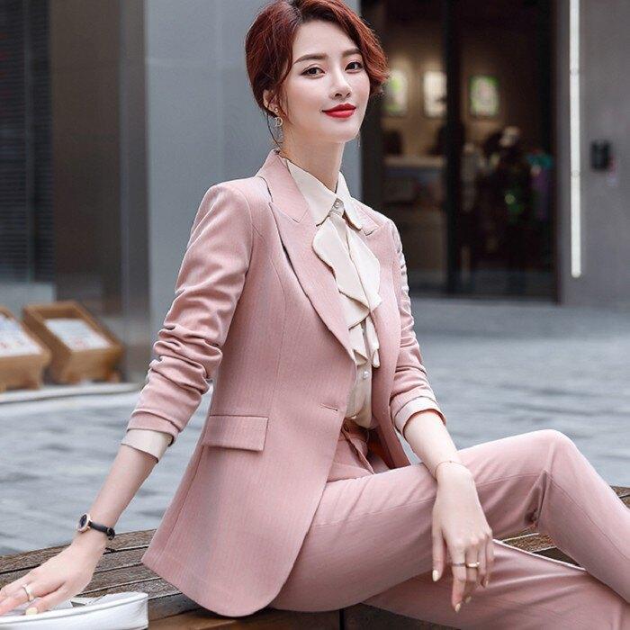 直紋流行劍形弧形領個性西裝外套[20X285-PF]灰姑娘