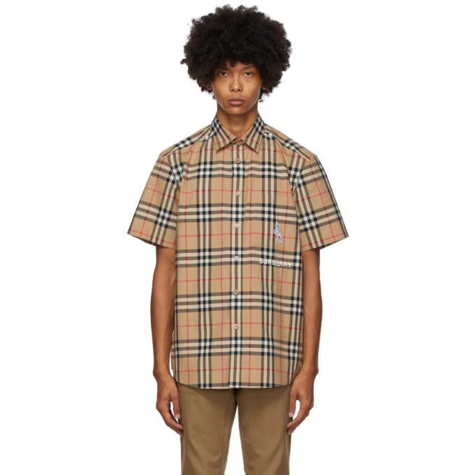 Burberry 驼色 Coleford 短袖衬衫