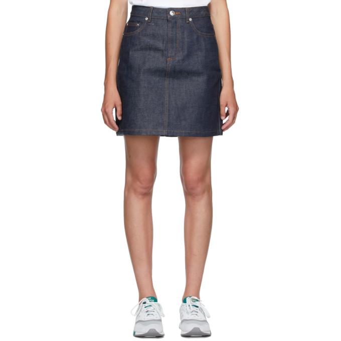 A.P.C. 靛蓝色 Standard 牛仔短裙