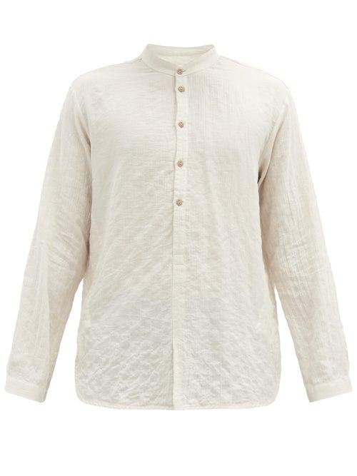 Toogood - The Botanist Stand-collar Cotton-blend Shirt - Mens - White