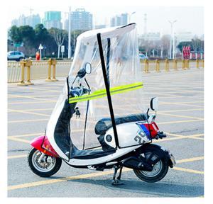 機車雨棚 電動電瓶車雨棚新款加厚防雨防曬 摩托車擋風板7字棚電動車遮雨棚
