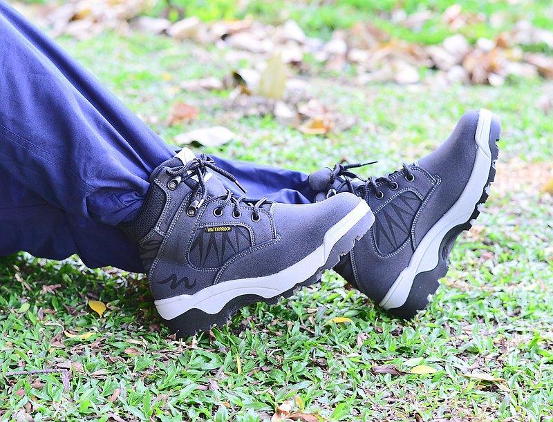MIT【輕量防水登山靴-女款黑色】登山靴 登山鞋 防水 防滑
