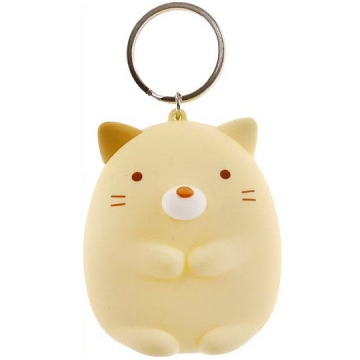 角落生物 零錢包 矽膠 收納包 小物包 鑰匙圈 鎖圈 吊飾 掛飾 (黃 貓咪)