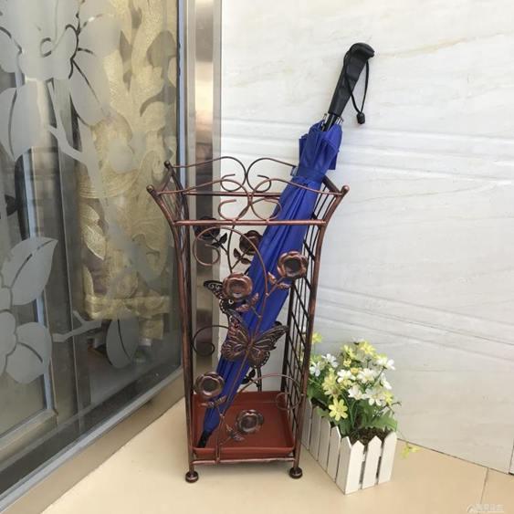 雨傘架美歐式復古鐵藝家用大堂酒店雨傘桶創意垃圾桶收納架