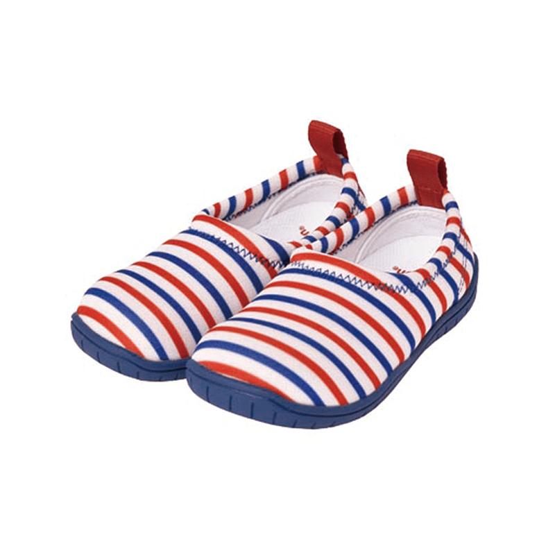 兒童休閒機能鞋「ISEAL VU系列」-紅藍條紋 13cm