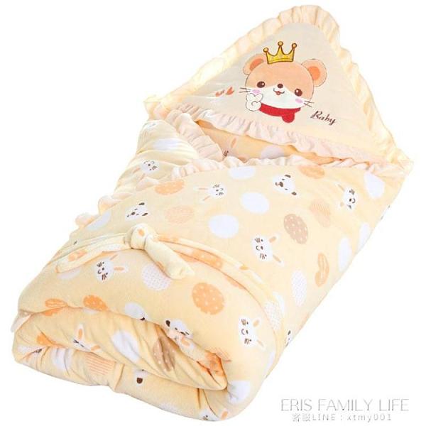 嬰兒抱被新生兒包被春秋冬季初生寶寶用品加厚被子產房包巾可脫膽 艾瑞斯